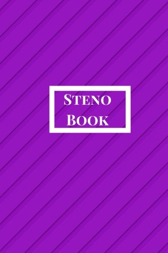 Steno Book: Pitman Shorthand Book, Steno Notebook 6x9 for Steno Writing, Pitman Shorthand Writing, Teeline shorthand writing, 80 sheets/160 pages. Violet Theme