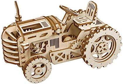 [해외]Funrarity Wooden Mechanical Models-Adult Craft Set-3D Laser Cutting Puzzle -Brain Teaser Educational and Engineering Toy - Tractor / Funrarity Wooden Mechanical Models-Adult Craft Set-3D Laser Cutting Puzzle -Brain Teaser Education...