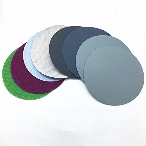 20ps 74-80mm Mix Grit Set Water Grinding Abrasive Paper 3inch Grit 800/1500/2000/3000 Sanding Discs Hook Loop Sandpaper Round Sandpaper Disk Sand Sheet ()