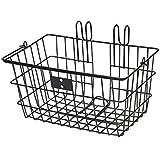 Retrospec Bicycles Detachable Steel Apollo-Lite Lift-Off Front Bike Basket with Handles, Black