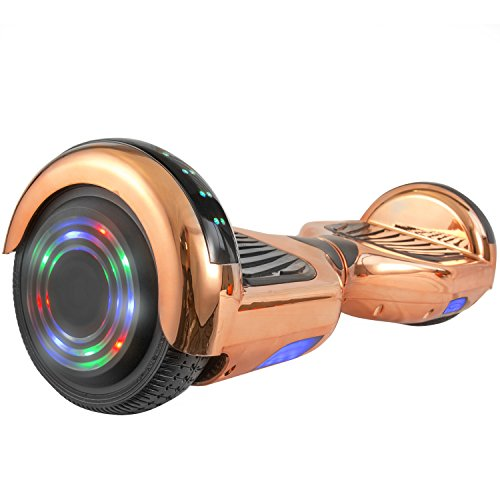 Levit8ion ION 6.5″ Hoverboard -Self Balancing Scooter 2 Wheel Electric Scooter – UL Certified 2272 Bluetooth W/Speaker, LED Wheels And LED Lights (Chrome Rose Gold)
