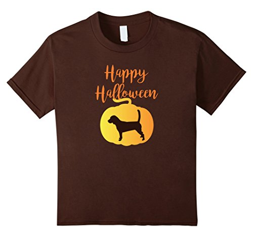 The Dog Beagle Costume (Kids Halloween Beagle Shirt - Cute Dog Pumpkin Costume 10 Brown)