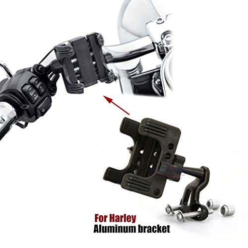 For harley Handlebar Cell Phone Holder GPS MP3 Bracket #76000537 and #76000549 Dyna softail Road King Street Glide sportster tri CVO (Best Phone Carrier 2019)