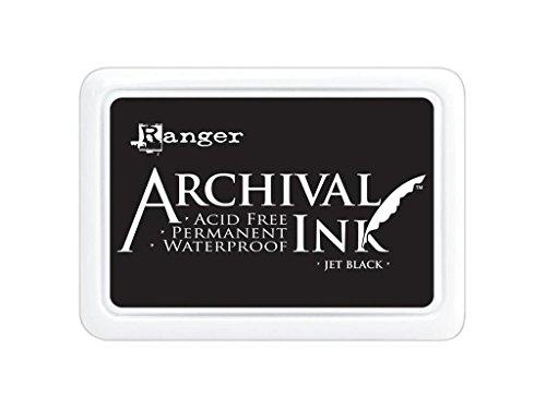 Ranger Archival Jumbo Inkpad #3, Jet (Archival Waterproof Dye Ink Pad)