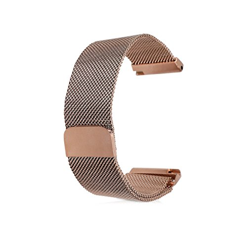 kwmobile Watches straps for Fitbit Versa - Smartwatch replacement watchband of stainless steel milanese rose gold - Watch strap with magnet lock by kwmobile