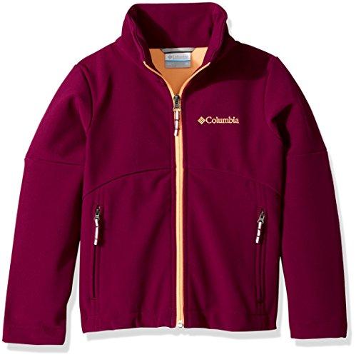 Columbia Big Girls' Brookview Softshell Jacket, Dark Raspberry, Large