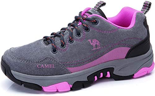 CAMEL CROWN Women s Leather Hiking Shoes Breathable Sneaker Walking Shoes Lightweight Casual Shoes for Women Outdoor Running