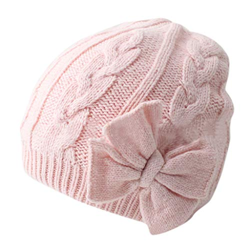 Longay Winter Warm Knitted Baby Hat for Girls Cotton Lined I