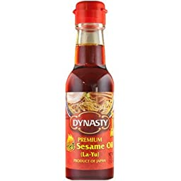 Dynasty Premium Hot Sesame Oil ( La- Yu ) 5oz Pack of 2