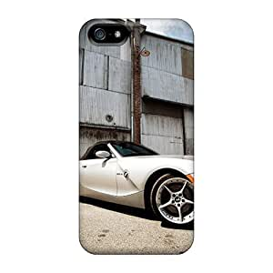 New Arrival Cover Case With Nice Design For Iphone 5/5s- White Bmw Z4 Roadster Front Angle