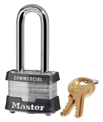 Master Lock 3KALH 0324#3 Long Shackle Laminated Padlock, 2""