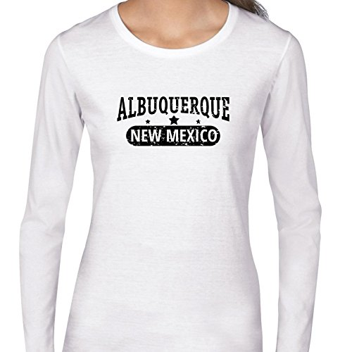 Hollywood Thread Trendy Albuquerque, New Mexico With Stars Women's Long Sleeve T-Shirt]()