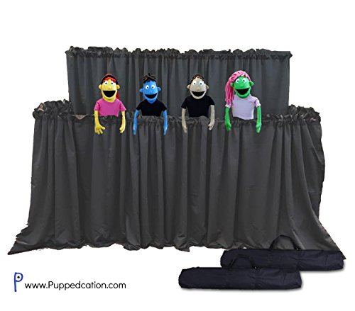 Classroom Puppet Stage XL - 2 Tier Portable Tripod Puppet Theater w/BAG | Stage, Ministry by PuppedcationTM