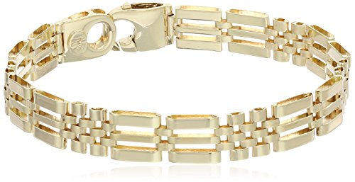 Men's 14k Yellow Gold Fancy Italian Bracelet, 8.5
