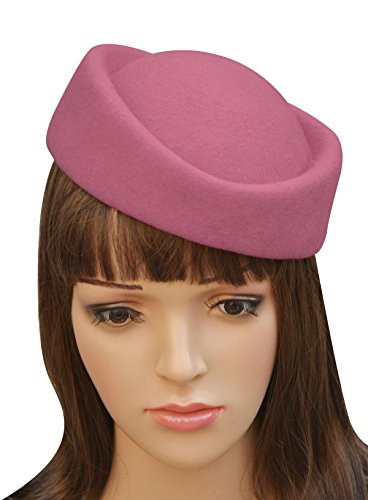 (Lawliet Cocktail Fascinator Base Wool Air Hostesses Pillbox Hat Millinery Making A139)