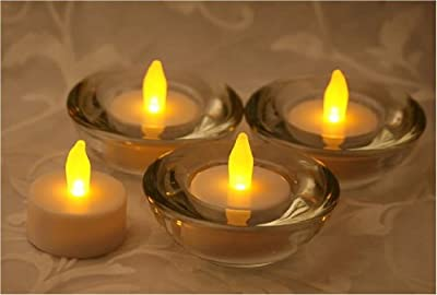 Inglow CG14038WH4 Flameless Tea Light Candle with Color Changing LED, White, 4-Pack