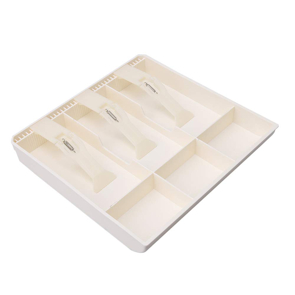 Mxfans Coin Bill Case 3 Bill 3 Coin Cash Drawer Insert Tray ABS Material White blhlltd M3180903083