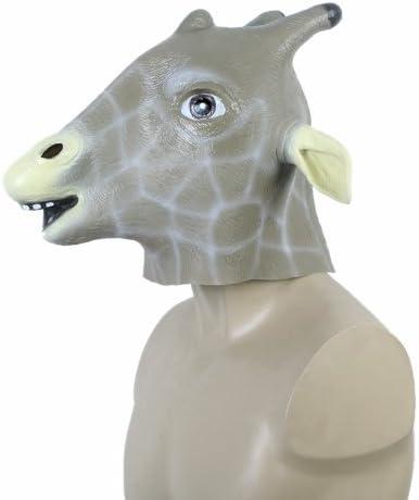 docooler único látex Animal Jirafa Cabeza Máscara Halloween ...