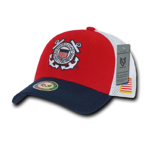 Rapid Dom Military Logo Deluxe Mesh Cotton Baseball Caps S010 Coast Guard