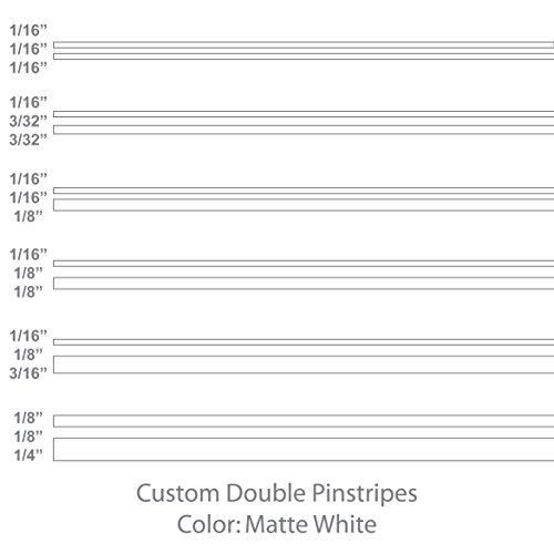 Double Pinstripes (Matte White) 1/8