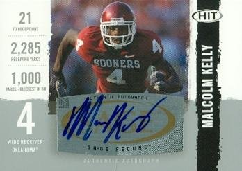 Autograph Warehouse 99640 Malcolm Kelly Autographed Football Card Oklahoma 2008 Sage Hit Rookie No. A84 ()