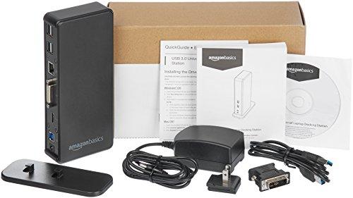 AmazonBasics USB 3.0 Universal Laptop Docking Station by AmazonBasics (Image #4)