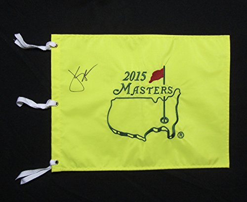 JORDAN SPIETH AUTOGRAPHED Hand SIGNED 2015 AUGUSTA NATIONAL MASTERS PIN FLAG w/COA ()