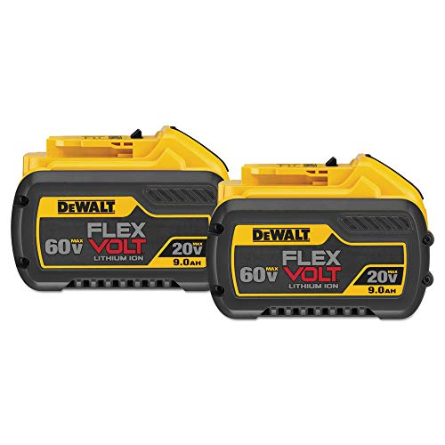 Dewalt Batteries Two Pack - DEWALT DCB609-2 20V/60V MAX FLEXVOLT 9Ah Battery, 2 Pack