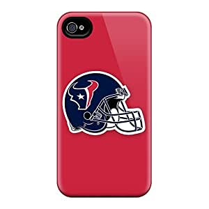 AlissaDubois Apple Iphone 4/4s Scratch Resistant Hard Phone Cases Support Personal Customs HD Houston Texans 2 Series [dNG15940njUv]