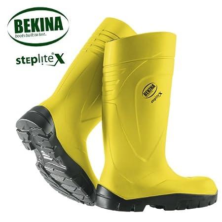 BEKINA-PU - botas de step Lite X amarillo S5, con puntera metá lica y metá lica con puntera metálica y metálica