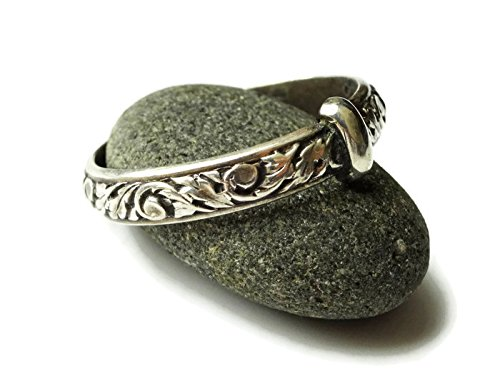 Antique Style Celtic Ring - Original Thistle Band - Solid Sterling - Outlander style - All sizes