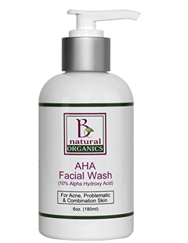 Be Natural Organics AHA Facial Wash (10% Alphy Hydroxy Acid) 6 Oz (180 - Body Treatment Tonifying
