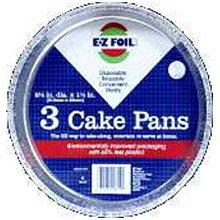 E-Z Foil/Pactiv #90819 3PK Round Foil Cake Pan