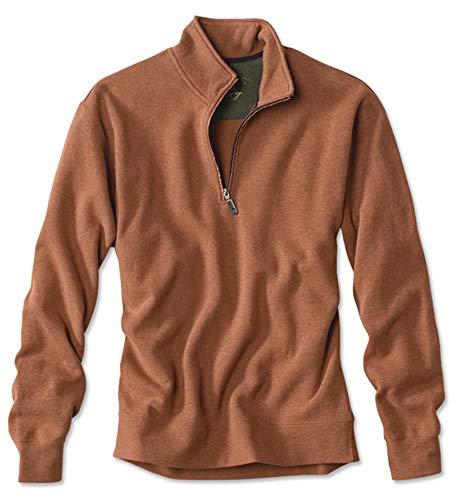 Orvis Men's Signature Softest Quarter-Zip Pullover, Clay, Medium
