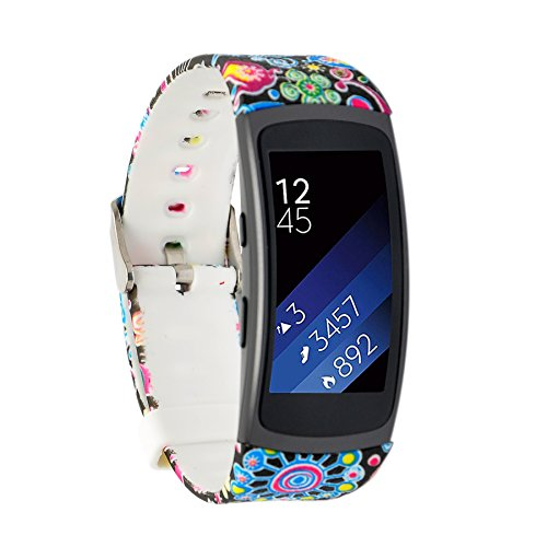Moretek Smart Watch Bands for Samsung Gear Fit2 & Gear Fit 2 Pro Tracker (Outer Space)