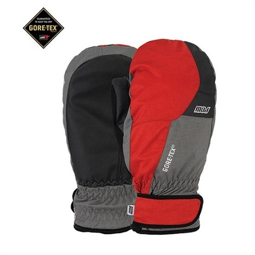 Pow Warner Gore-TEX Short Mitts, Red, Large