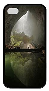 Cave Custom iPhone 4s/4 Case Cover TPU Black New Year gift