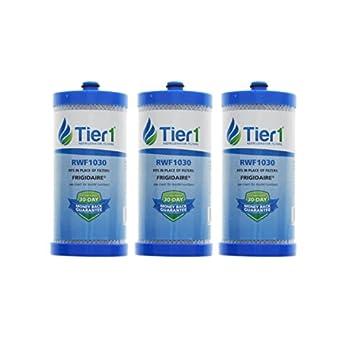 Tier1 RWF1030 Frigidaire Replacement Refrigerator Water Filter for Frigidaire PureSource WFCB, WF1CB, 469906, 469910 3 Pack