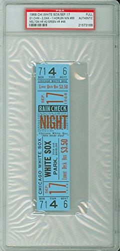 1968 Chicago White Sox FULL TICKET vs Oakland Athletics Joe Horlen Win #85 Bill Melton HR #2 - September 17, 1968 [Grades solid Near-Mint] by Mickeys Cards