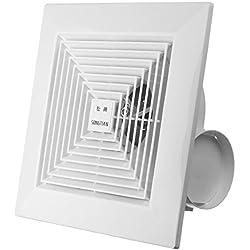 HITSAN KHG-16B 38W 8 Inch Exhaust Fan Ceiling Wall Mount Exhaust Fan For Home Ventilation Bathroom Garage One Piece
