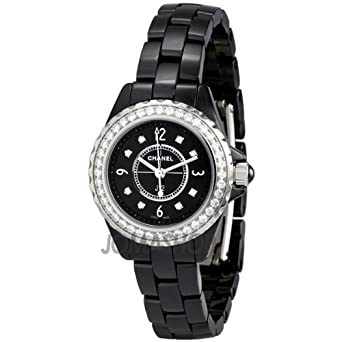 Amazon Com Chanel J12 Black Ceramic Quartz Ladies Watch