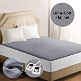 Heated Mattress Pad Underblanket Soft Flannel Fast Heating Digital Controller 10 Heating Levels