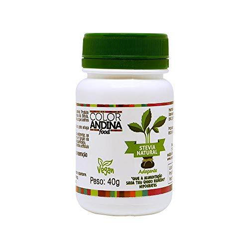 Adoçante dietético Stévia Color Andina Food, 1 pote, 40g