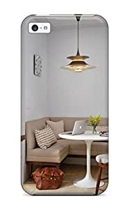 For Iphone 5c Protector Case Transitional Breakfast Nook With Banquette Seating And Pendant Light Phone Cover