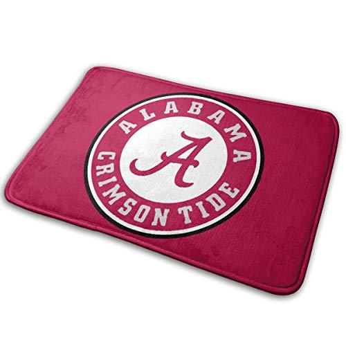 HappyCreative Alabama Crimson Tide Circle Door Mat Entrance Mat Floor Mat Rug Indoor/Outdoor/Front Door/Bath Mats Rubber Non Slip 15.7x23.6 Inches