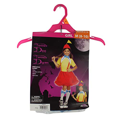 Connie N Randy Tweedle Dee Tweedle Dum Girls Medium 8-10 Costume -