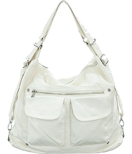 Off-White Large ''Skool Sak'' Backpack-Convertible Hobo Handbags
