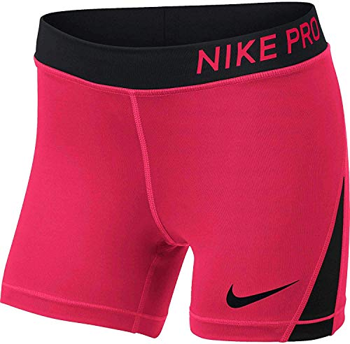Nike Pro Girls' 4'' Shorts (Racer - Gold Nike Training Shorts