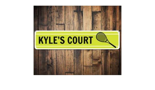 Amazon.com: Tennis Sign, Kid Room Sign, Custom Tennis Court Sign, Tennis Player Gift, Metal Name Sign, Tennis Racquet Decor -Quality Aluminum: Home & ...