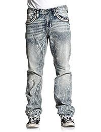 Men's Jeans, Blake Armor Banjo Variant, Bleached Distressed Denim